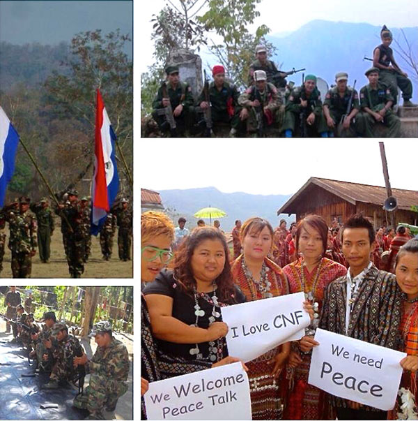 The Chin National Front (CNF). One of the last ethnic insurgent armies to sign ceasefire agreement. Images: Chin National Front, Facebook: