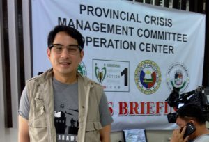 Assemblyman Alonto at Provincial Crisis Management Committee Operation Center (Sept.14, 2017)